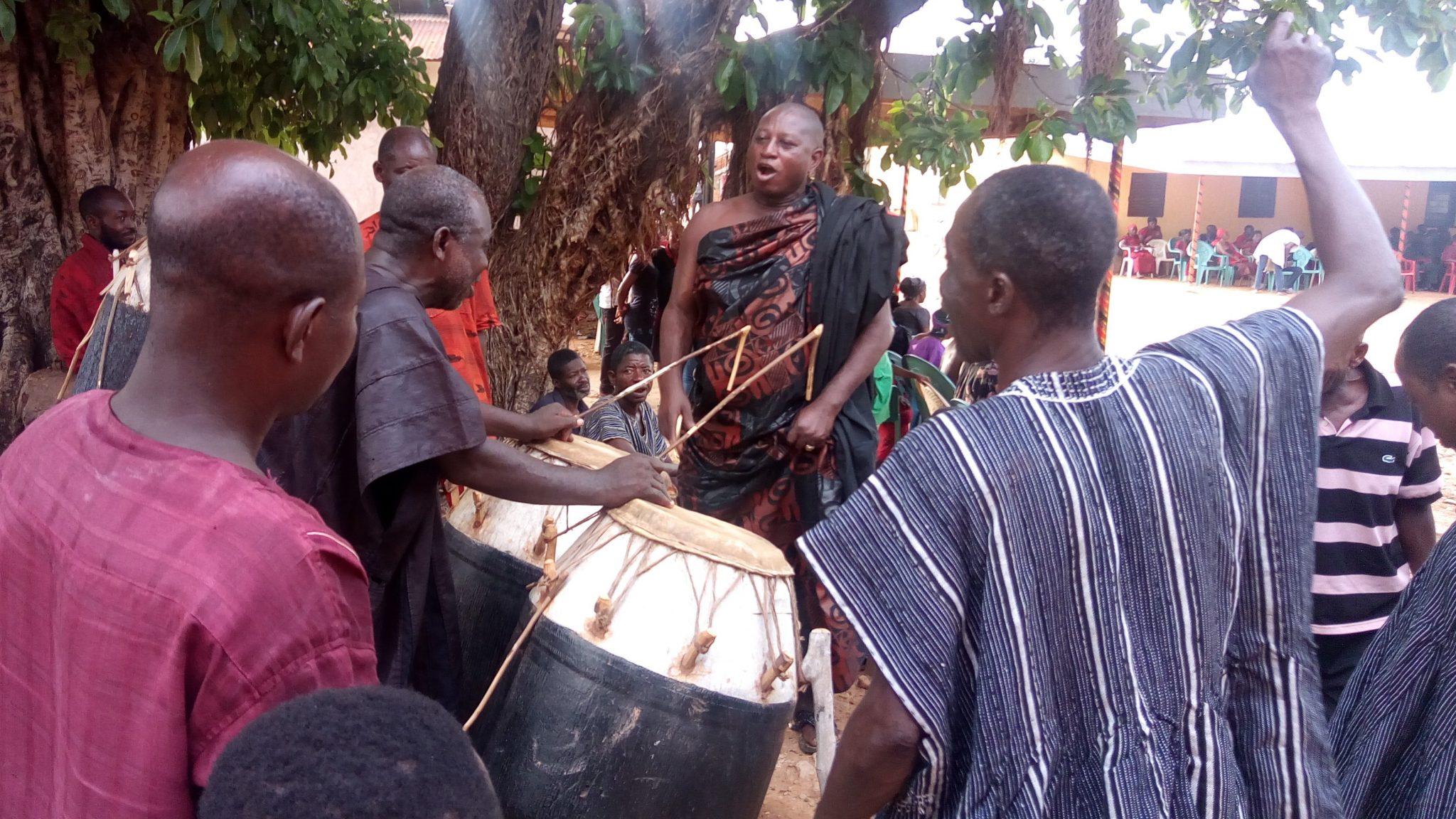 Nkonya funeral drumming